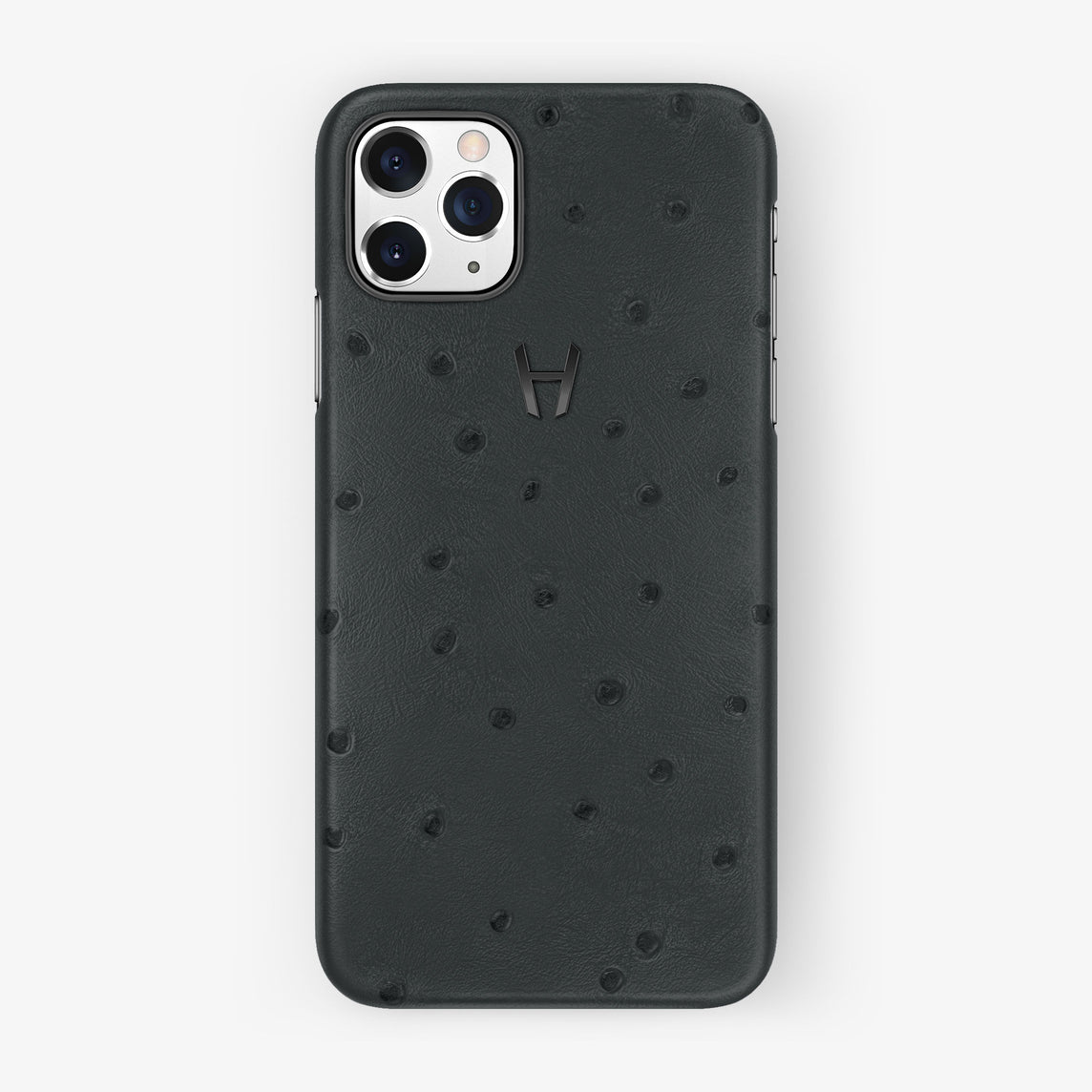 Ostrich Case iPhone 11 Pro | Anthracite Grey - Black