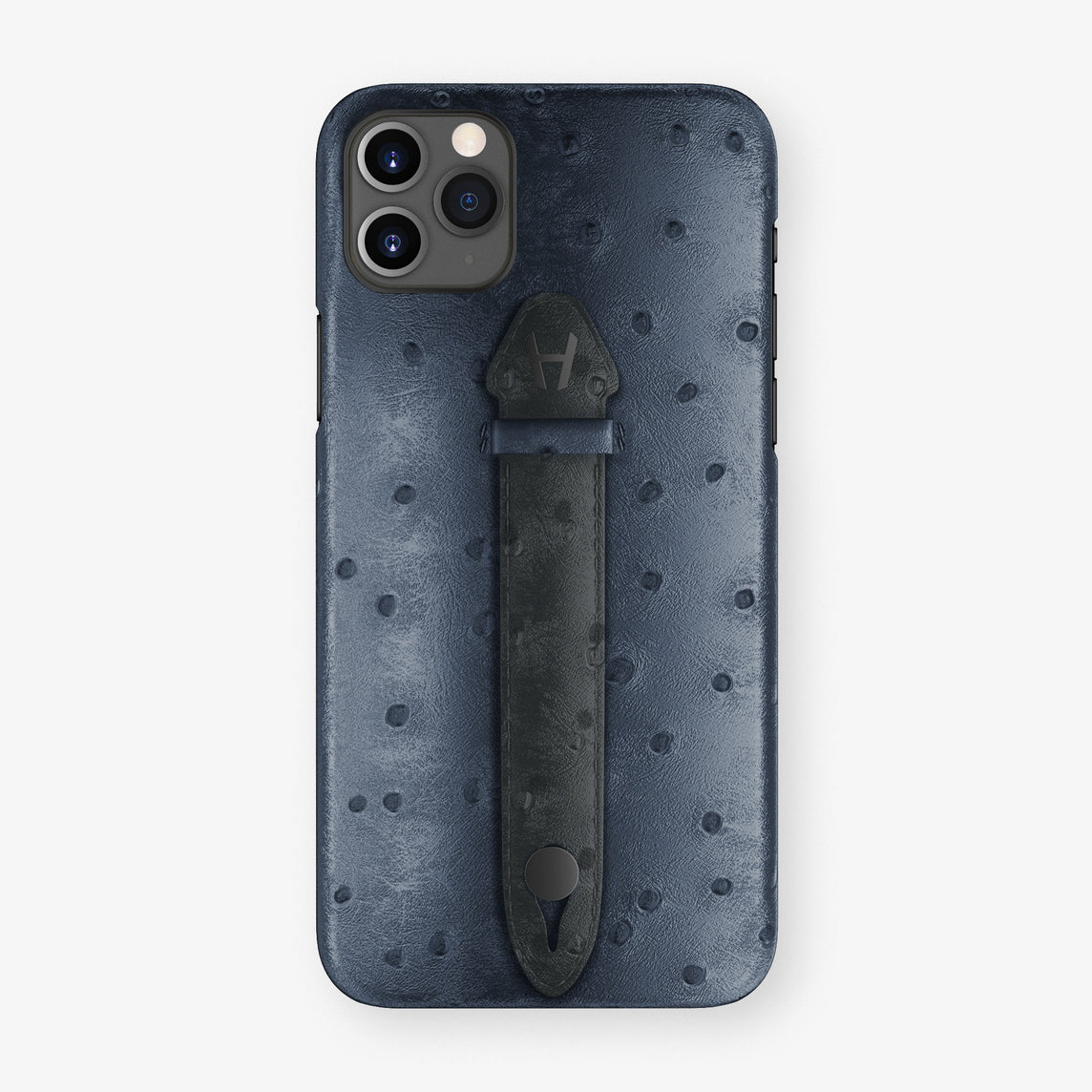 Ostrich Centered Finger Case iPhone 11 Pro Max | Navy Blue/Anthracite - Black