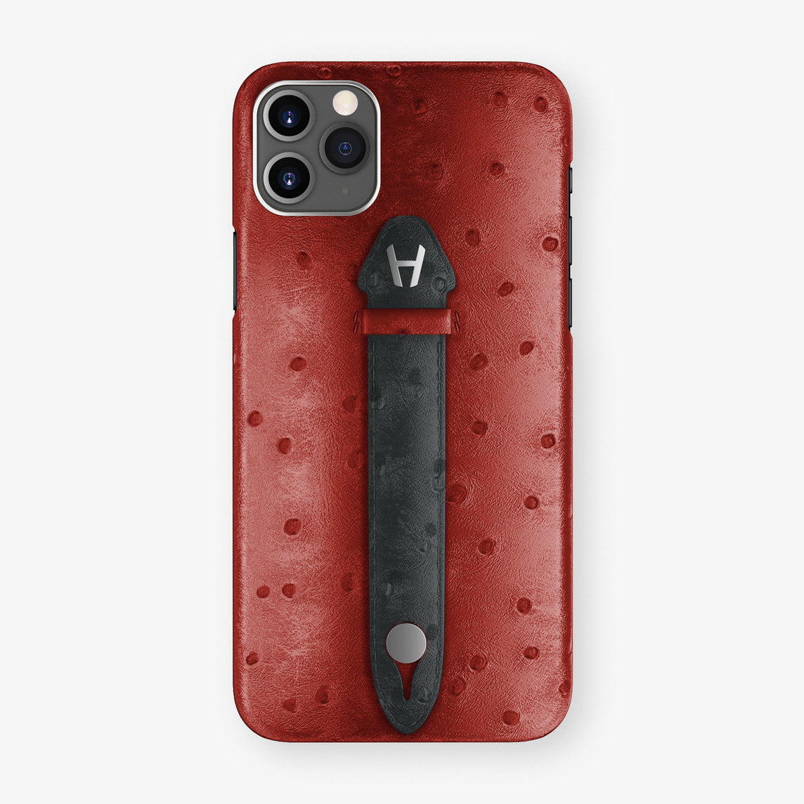 Ostrich Centered Finger Case iPhone 11 Pro Max | Red/Anthracite - Stainless Steel