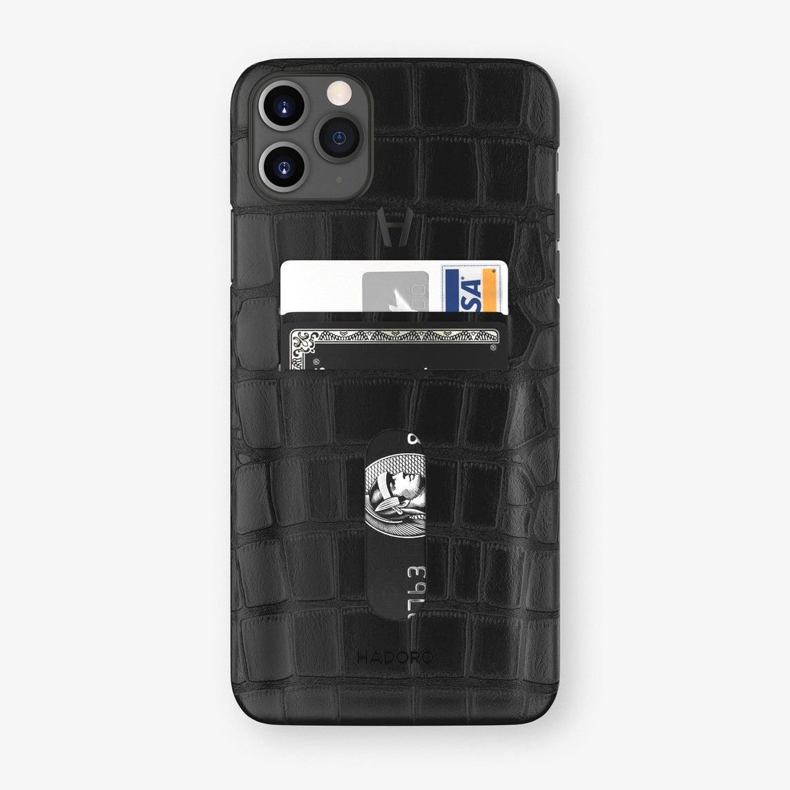 Alligator Card Holder Case iPhone 11 Pro Max | Black - Black