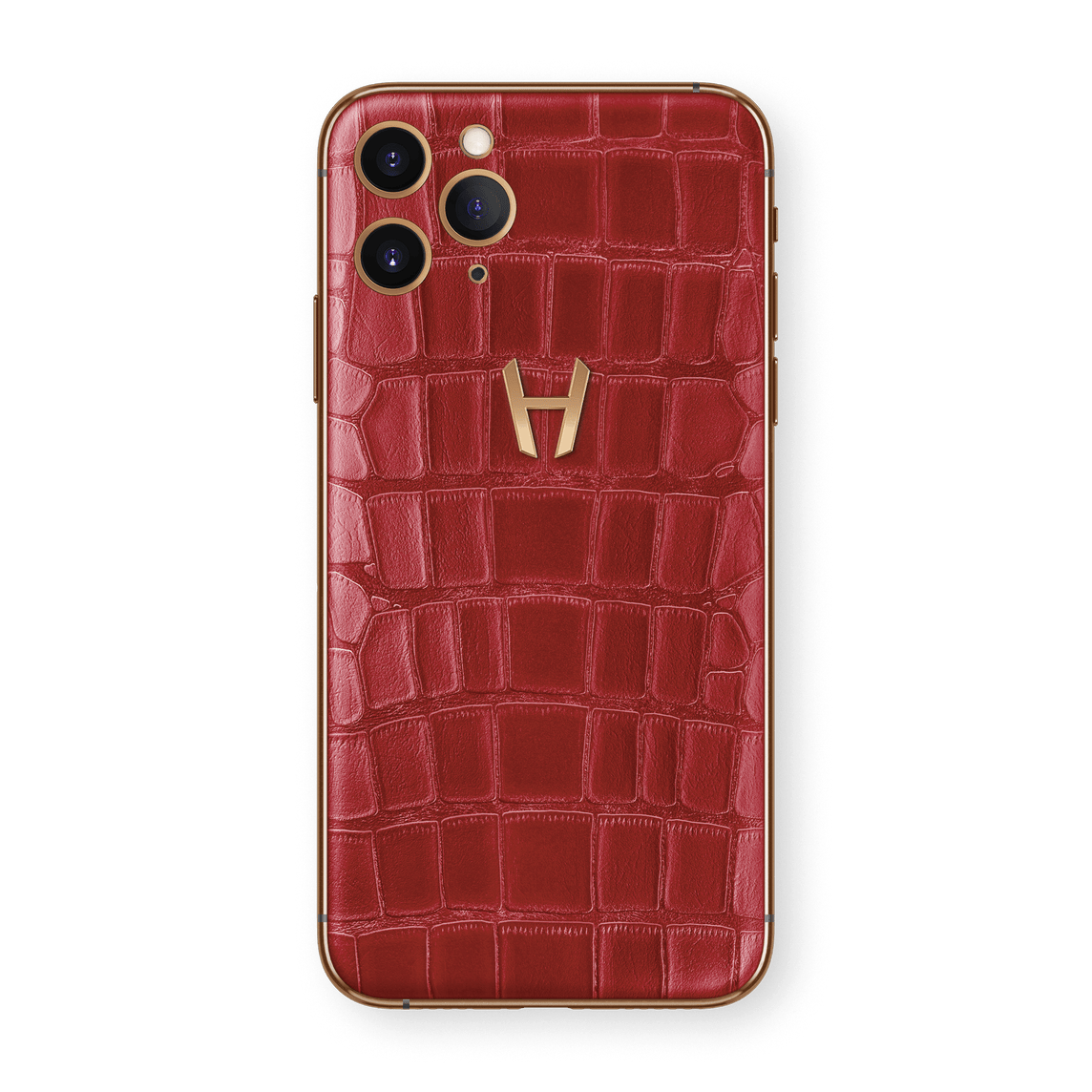 Hadoro iPhone 11 Pro Signature | Alligator - Rose Gold - Red
