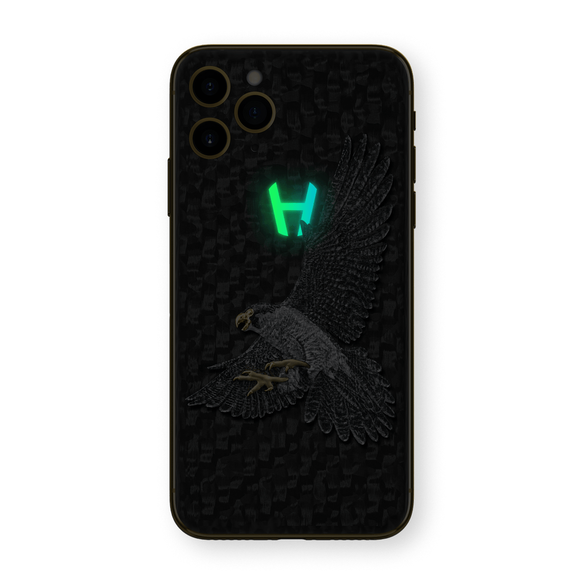 Hadoro iPhone 11 Pro Hunting Falcon | Yellow Gold
