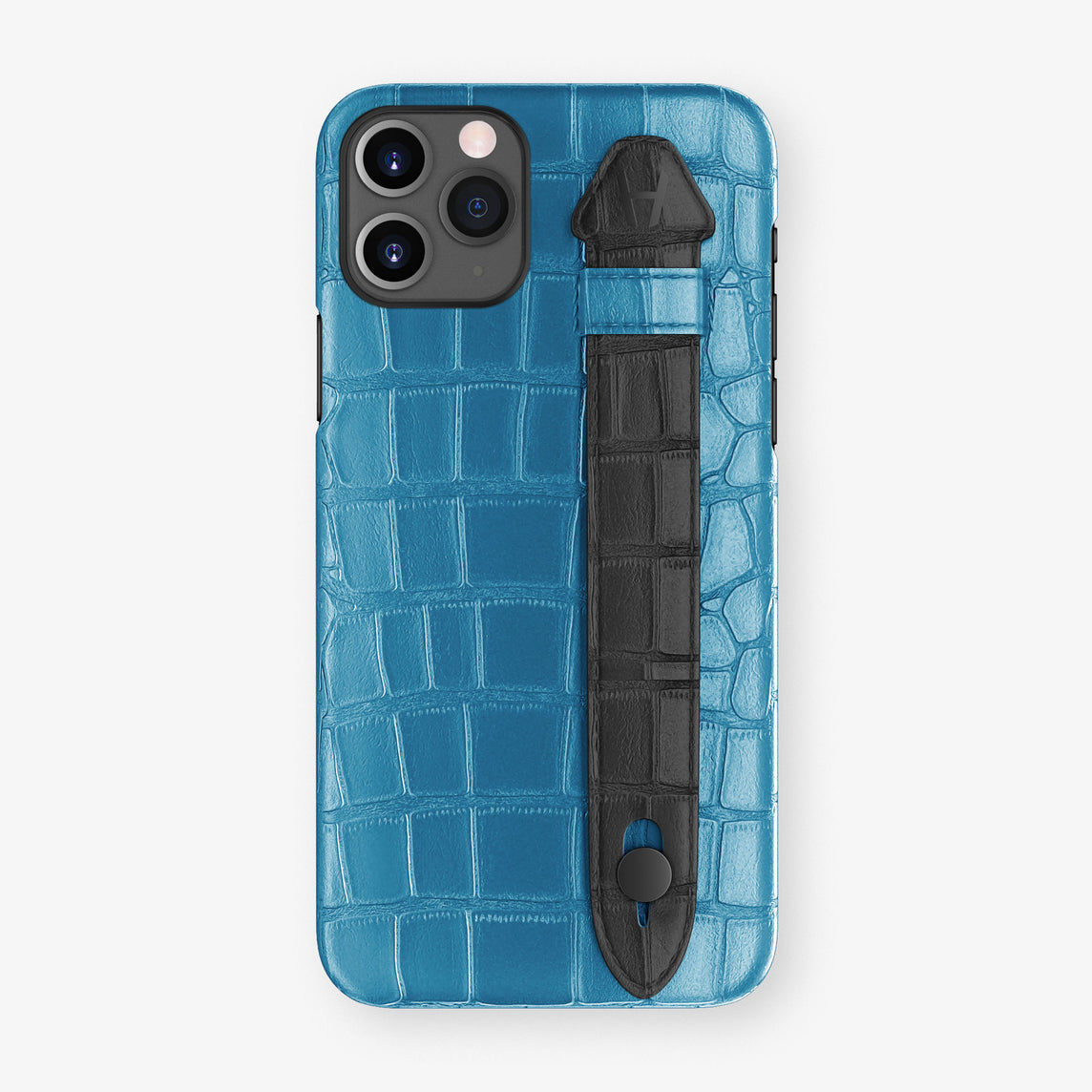Alligator Side Finger Case Phone 11 Pro  | Blue-Lagoon/Black - Black