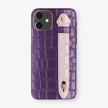 Alligator Side Finger Case Phone 11  | Purple/Pink-Poudre - Rose Gold