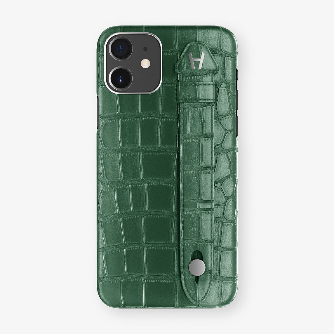 Alligator Side Finger Case Phone 11  | Green/Green - Stainless-Steel