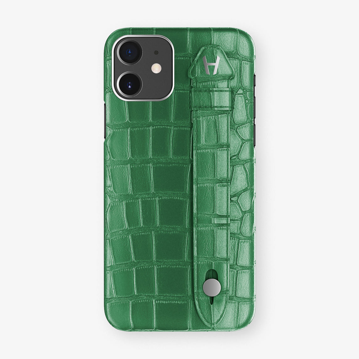 Alligator Side Finger Case Phone 11  | Green Emerald/Green Emerald - Stainless-Steel