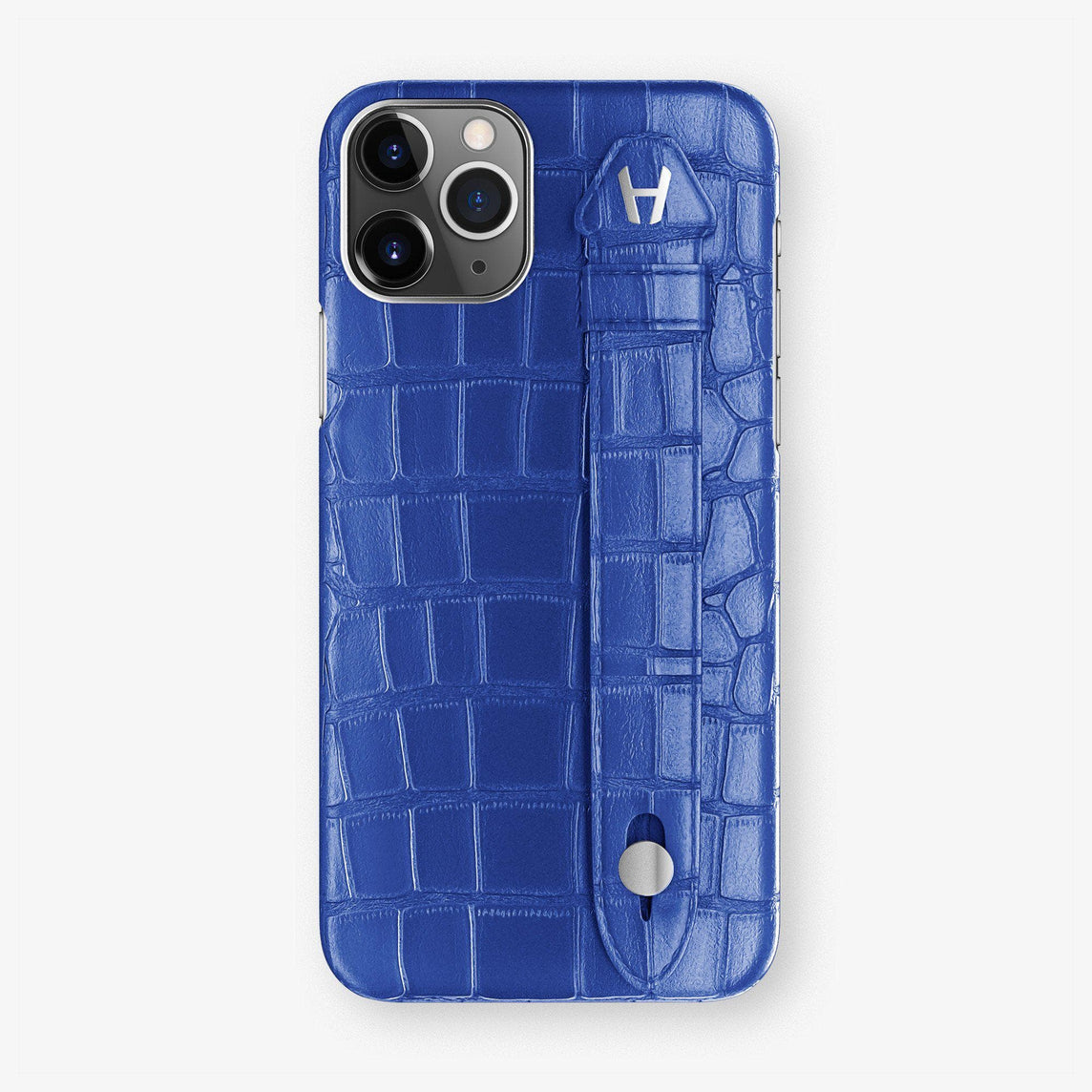 Alligator Finger Case iPhone 11 Pro | Peony Blue - Stainless Steel