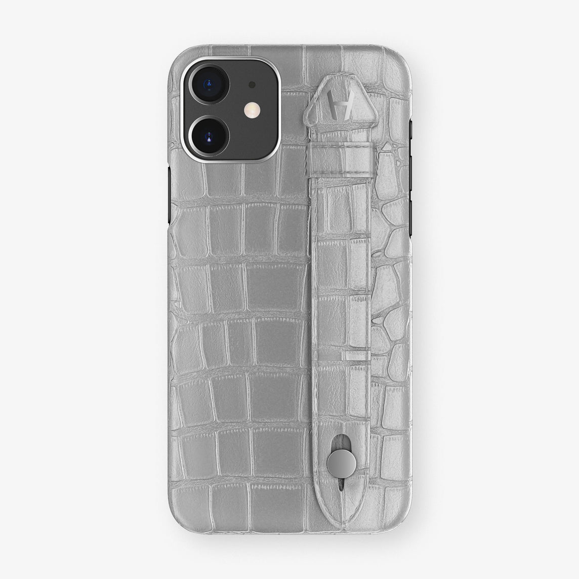 Alligator Side Finger Case Phone 11  | Silver/Silver - Stainless-Steel