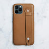 Smooth-Calfskin Side Finger Case iPhone 11 Pro | Dark Gold/Dark Gold Stainless Steel