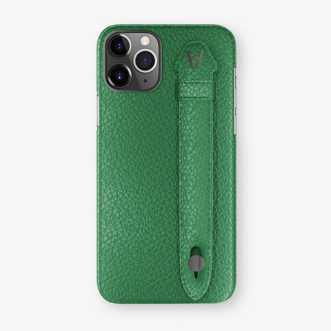 Calfskin Finger Case iPhone 11 | Green - Black