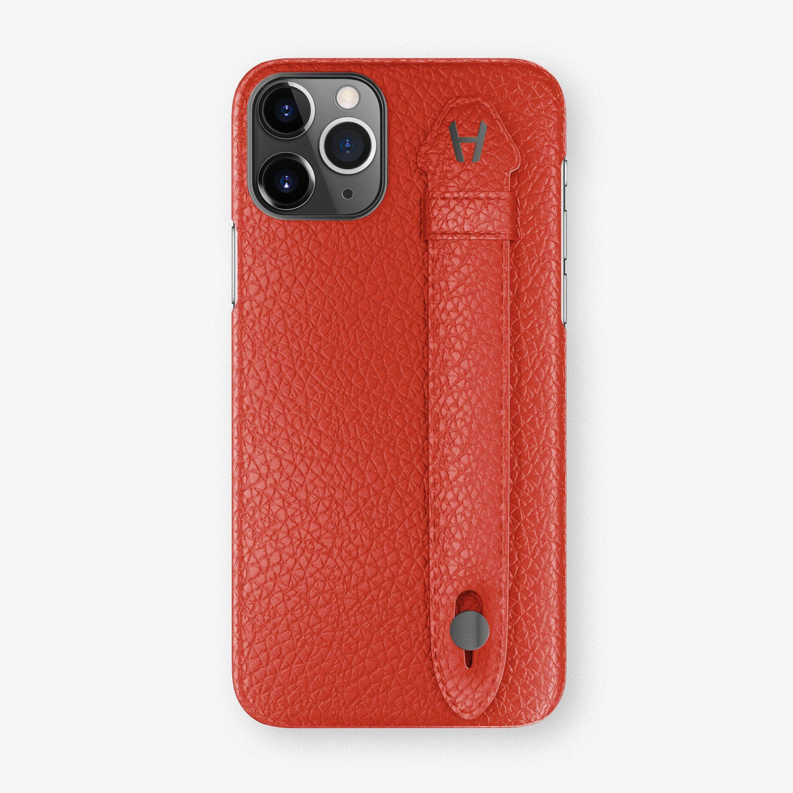 Calfskin Finger Case iPhone 11 Pro Max | Red - Black
