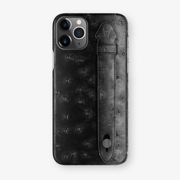 Ostrich Finger Case iPhone 11 Pro | Black - Black