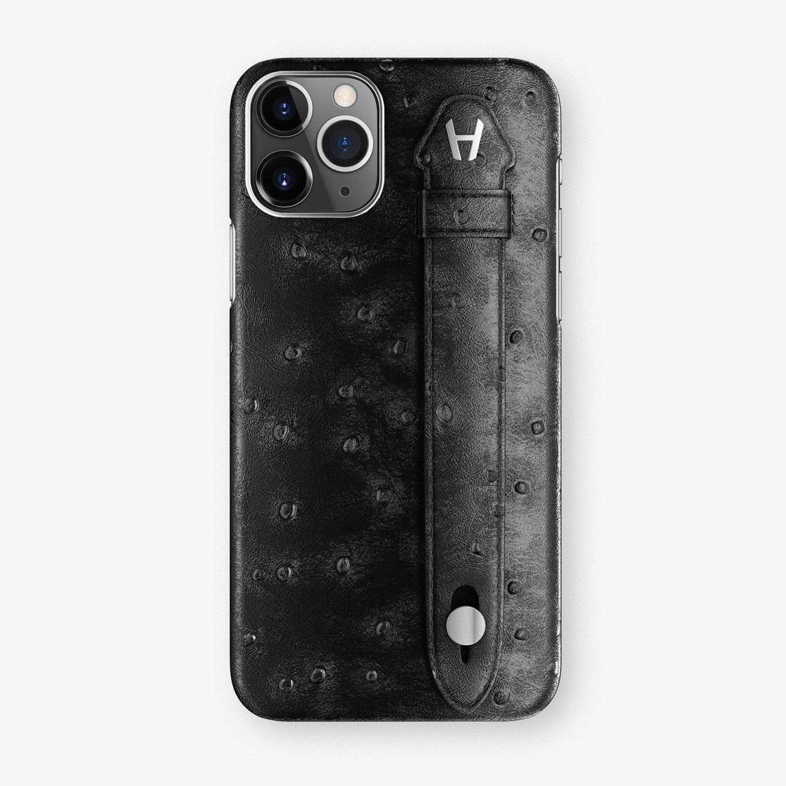 Ostrich Finger Case iPhone 11 Pro Max | Black - Stainless Steel