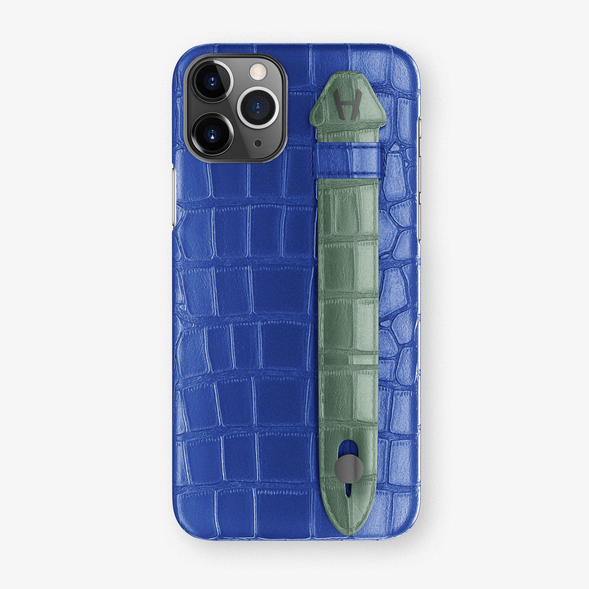 Alligator Finger Case iPhone 11 Pro | Peony Blue/Green Emerald - Black
