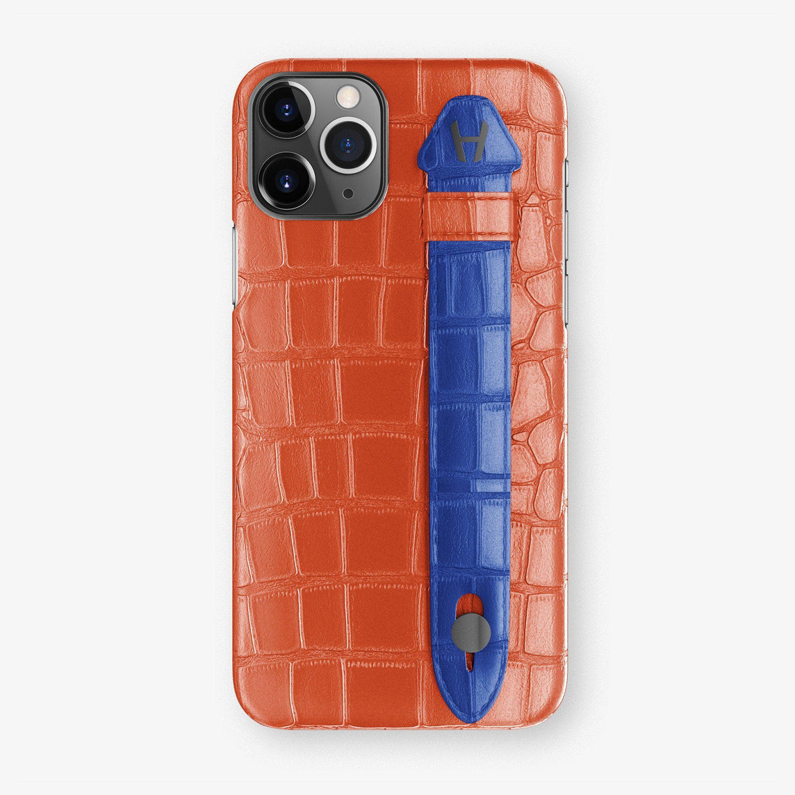 Alligator Finger Case iPhone 11 Pro | Orange Sunset/Peony Blue - Black