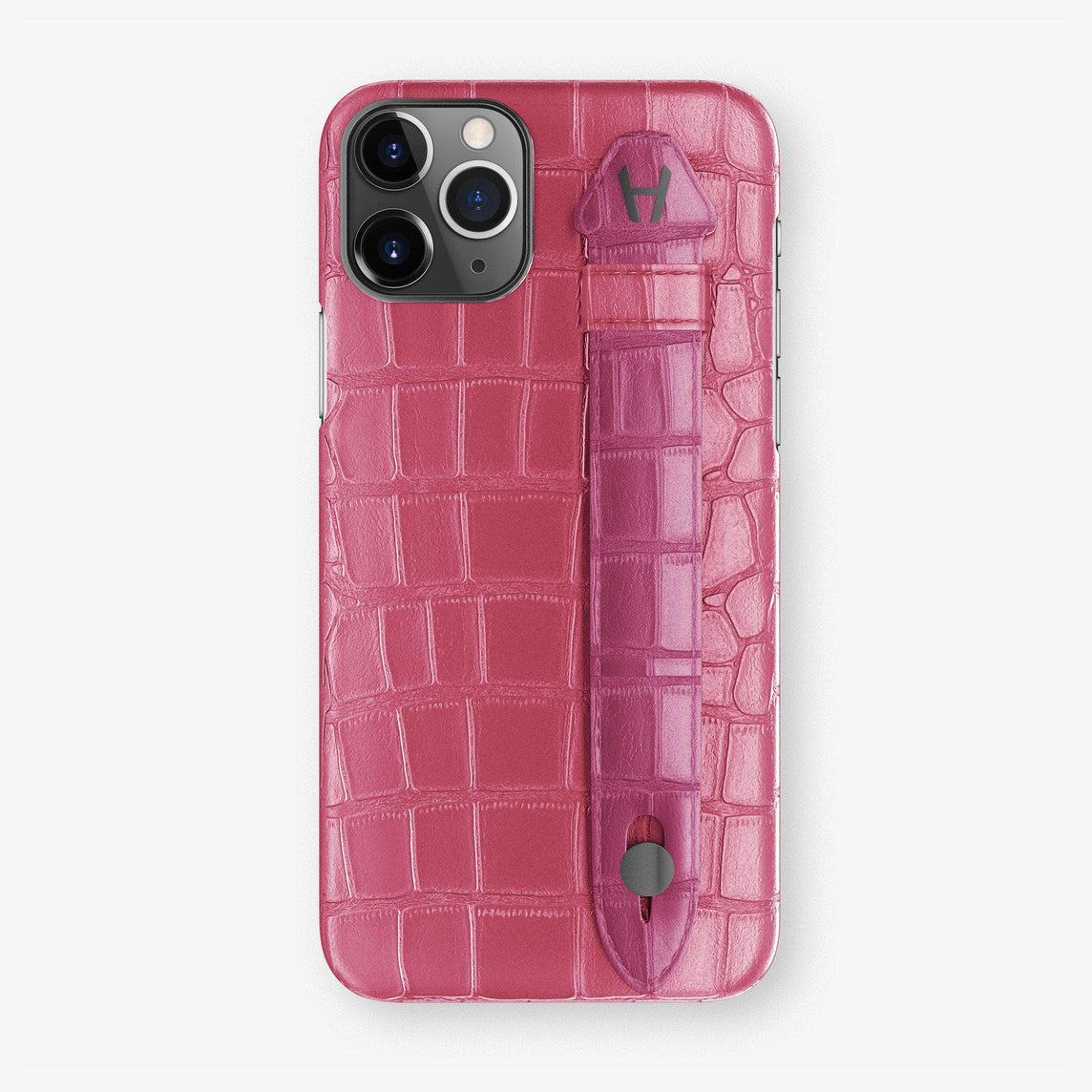 Alligator Finger Case iPhone 11 Pro | Pink Girly/Pink Fuchsia - Black