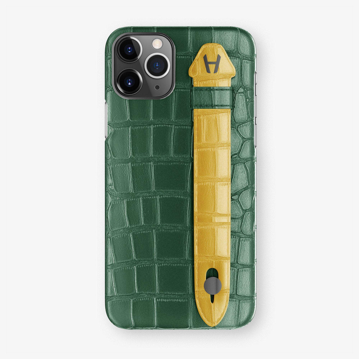 Alligator Finger Case iPhone 11 Pro | Green/Yellow - Black