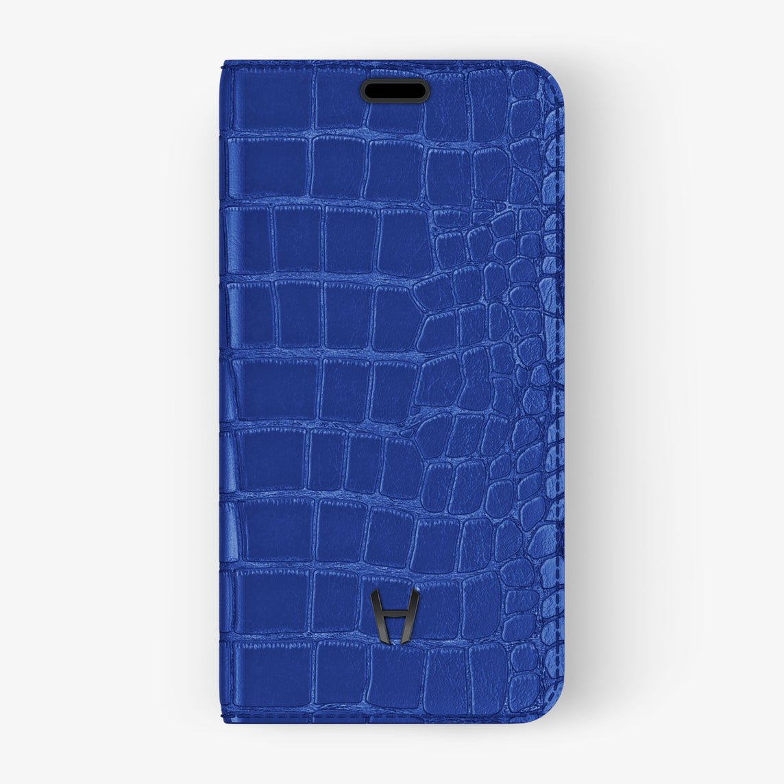 Alligator Folio Case iPhone 11 Pro Max | Peony Blue - Black