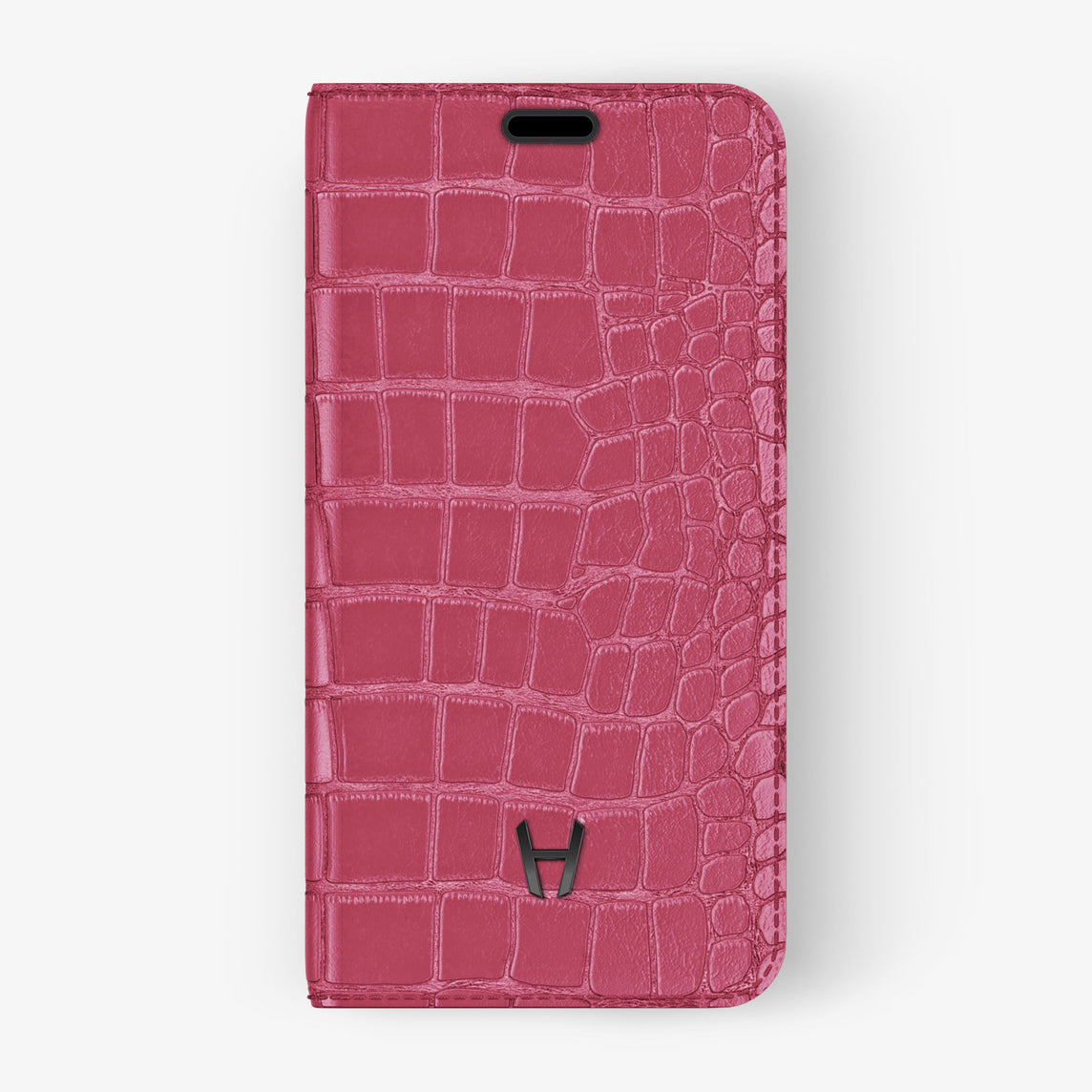Alligator Folio Case iPhone 11 Pro | Pink Girly - Black