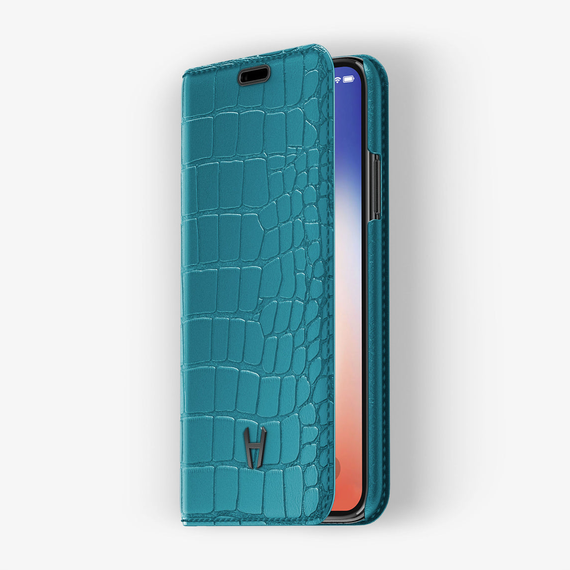 Alligator Folio Case iPhone 11 Pro | Blue Teal - Black