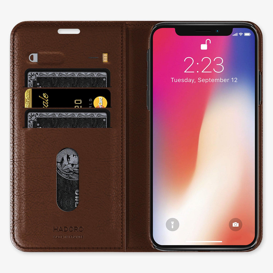 Alligator Folio Case iPhone 11 Pro Max | Brown Chocolate - Stainless Steel