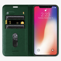Alligator Folio Case iPhone 11 Pro Max | Green - Stainless Steel