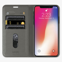 Alligator Folio Case iPhone 11 Pro | Pearl Grey - Stainless Steel