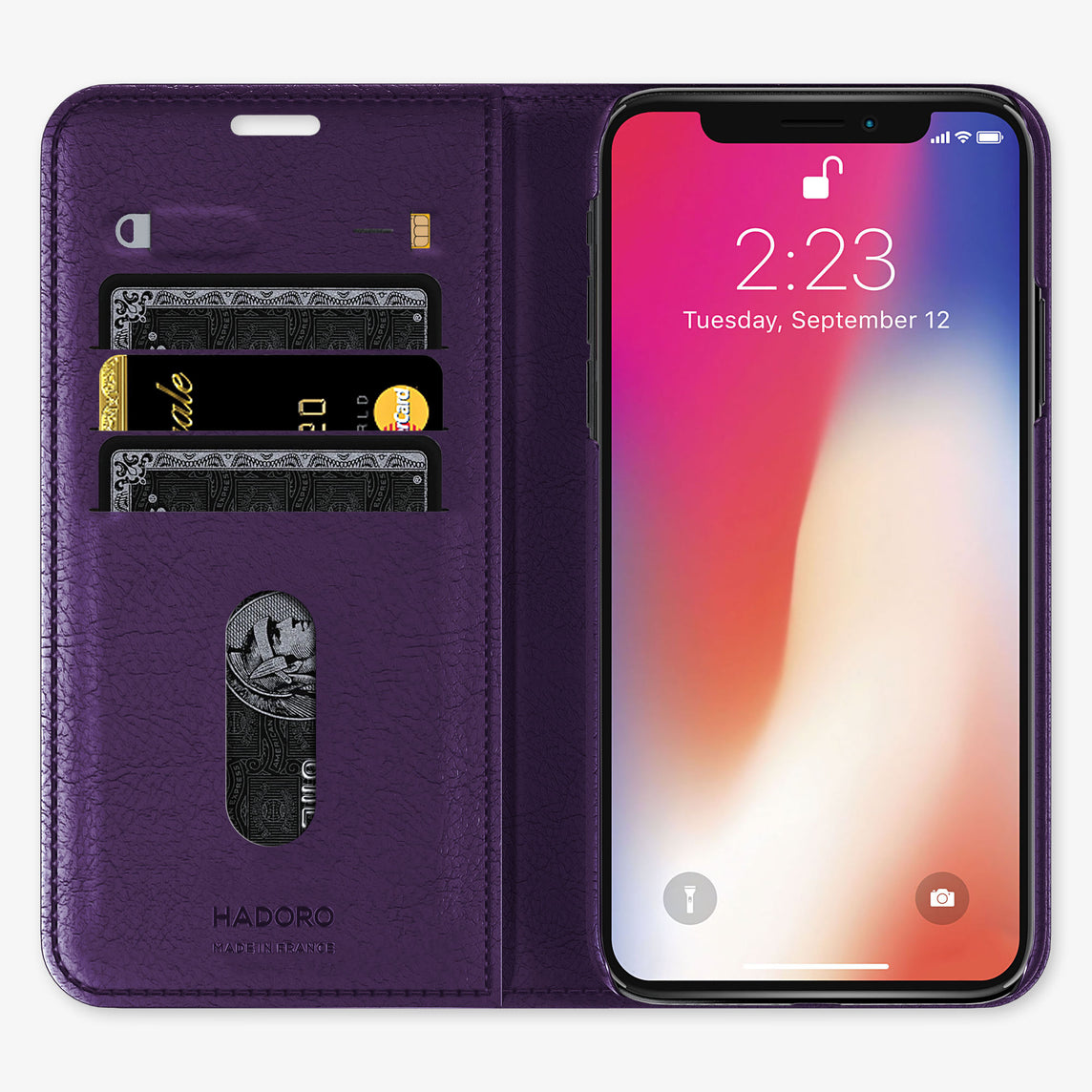 Alligator Folio Case iPhone 11 Pro | Violet Purple - Stainless Steel