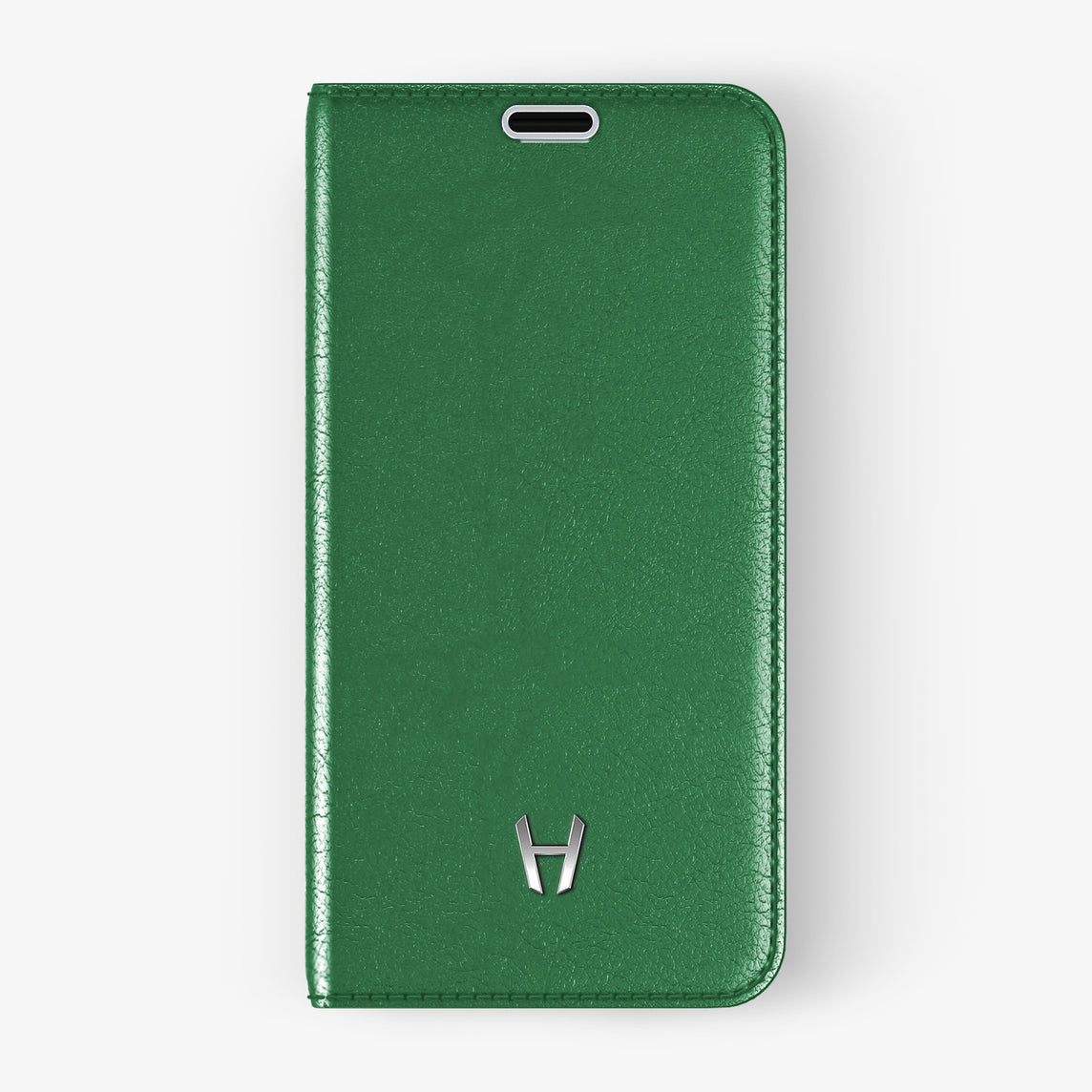 Calfskin Folio Case iPhone 11 Pro | Green - Stainless Steel