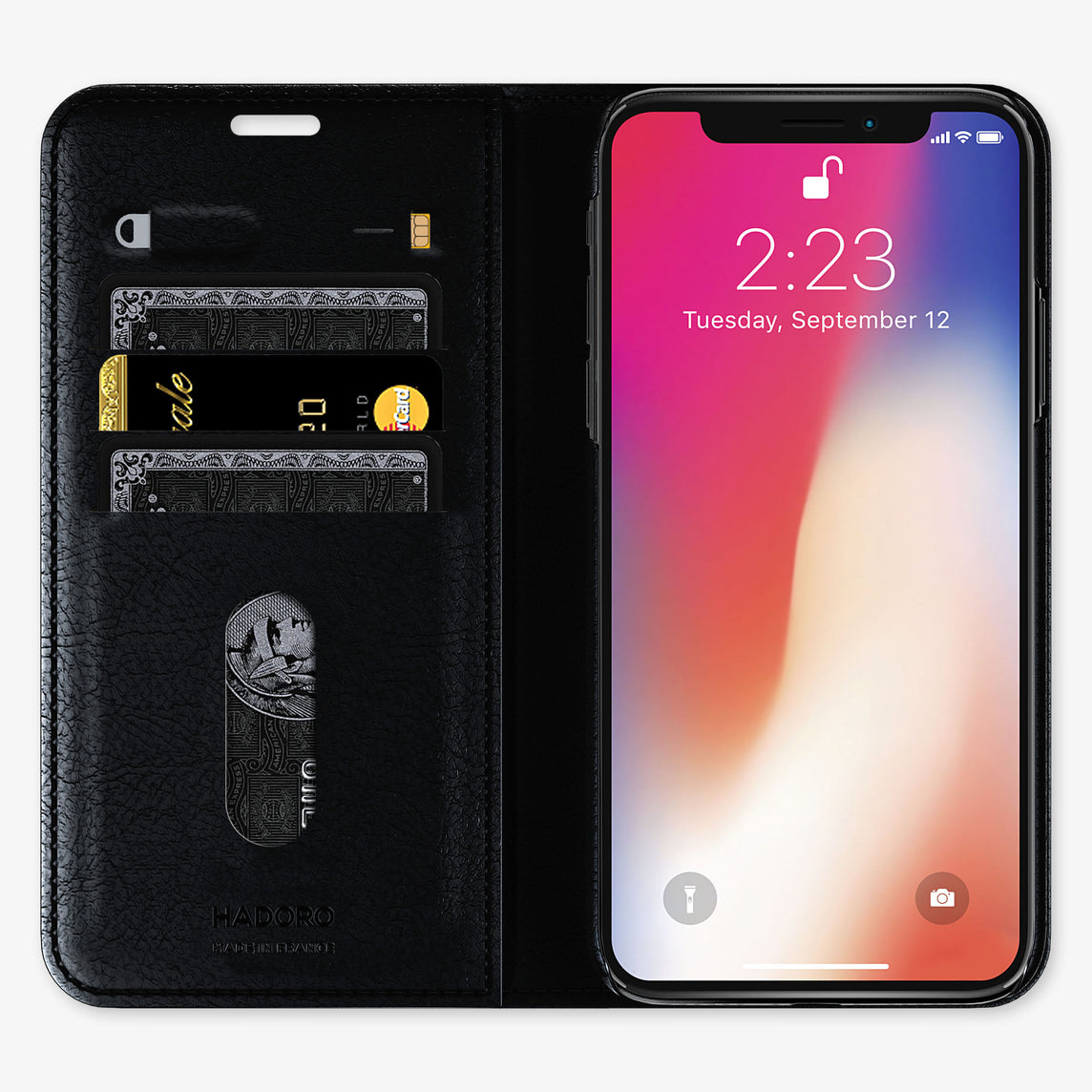 Ostrich Folio Case iPhone 11 Pro | Black - Stainless Steel