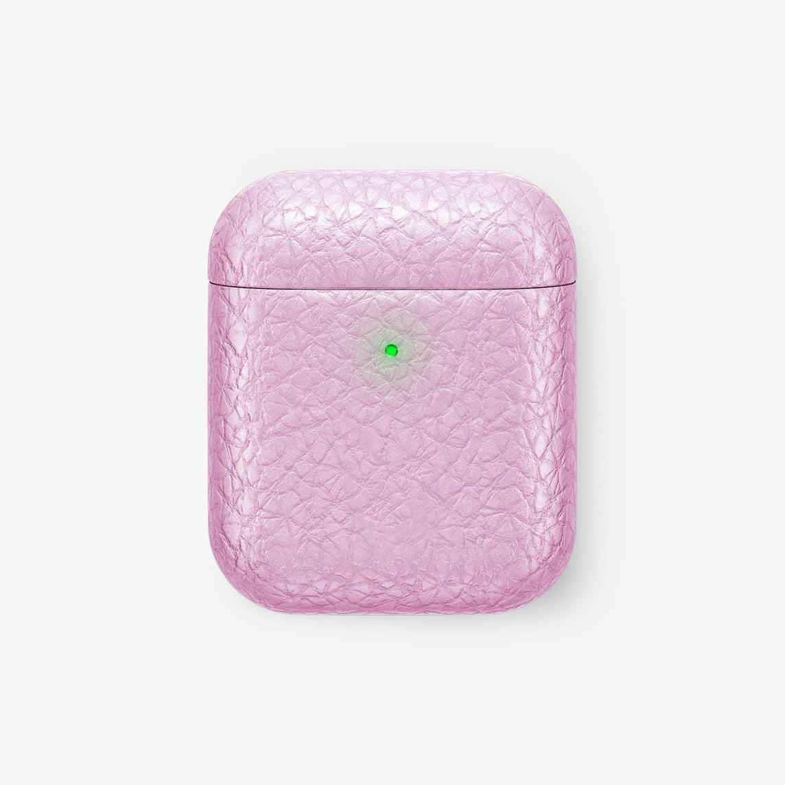 Calfskin [Hadoro AirPods] [model:airpods-with-w-charging] [colour:pink] [finishing:black] without-personalization