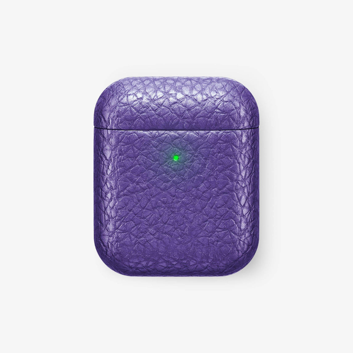 Calfskin [Hadoro AirPods] [model:airpods-with-w-charging] [colour:purple] [finishing:stainless-steel] without-personalization
