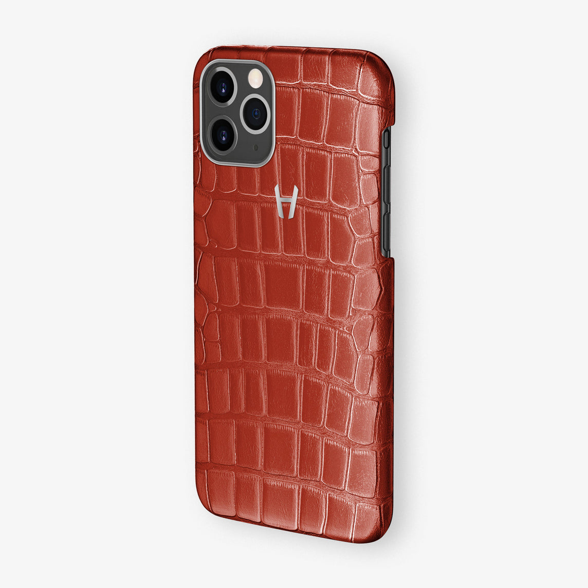 Alligator Leonardo Case iPhone 11 Pro | Red Lipstick - Stainless Steel