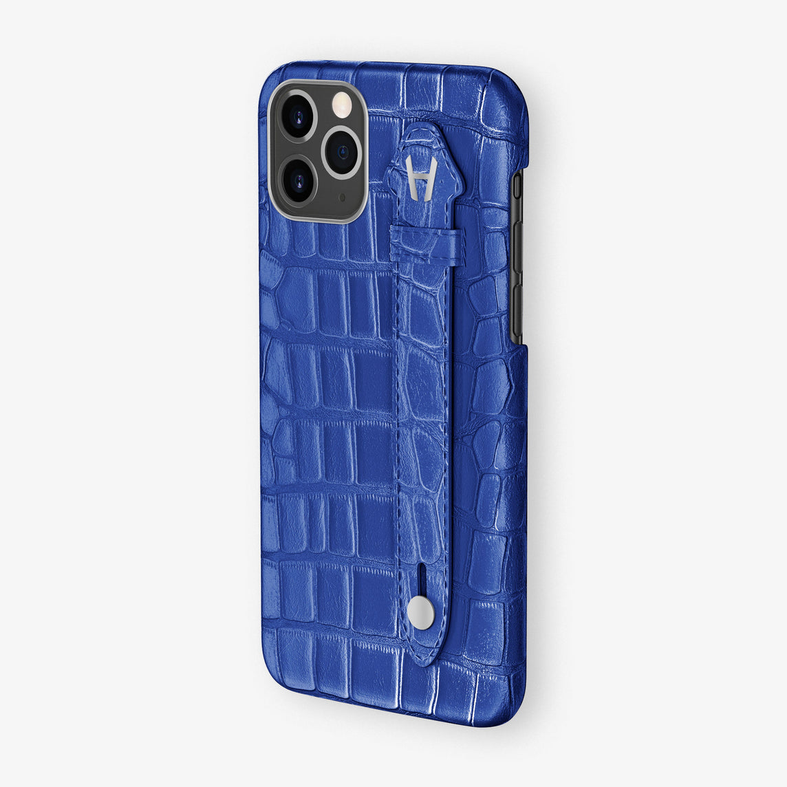 Alligator Leonardo Side Finger Case iPhone 11 Pro | Peony Blue - Stainless Steel