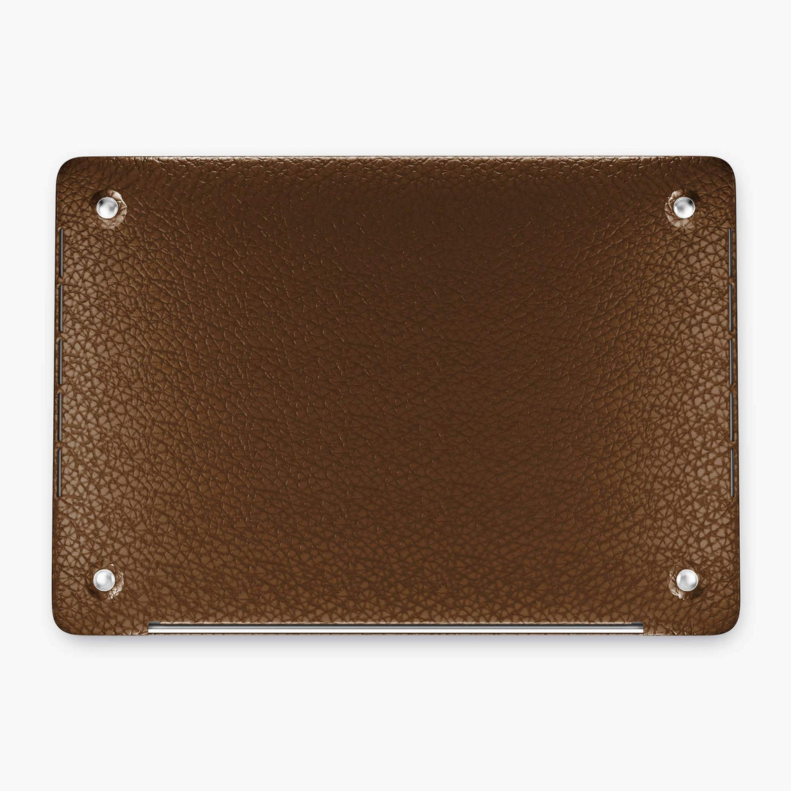 Calfskin Macbook Case Apple Mac Book 13'' Pro | Brown - Stainless Steel