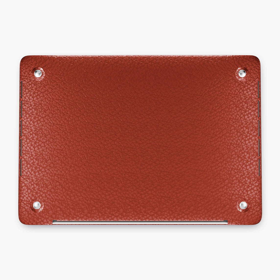 Calfskin Macbook Case Apple Mac Book 15'' Pro | Red - Black