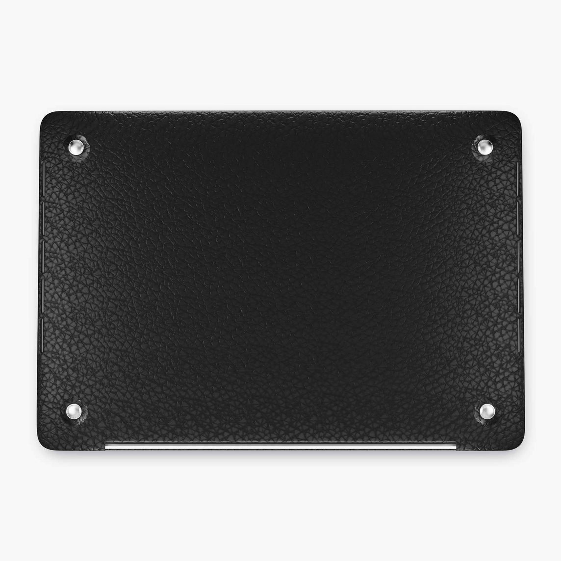 Calfskin Macbook Case Apple Mac Book 15'' Pro | Black - Stainless Steel
