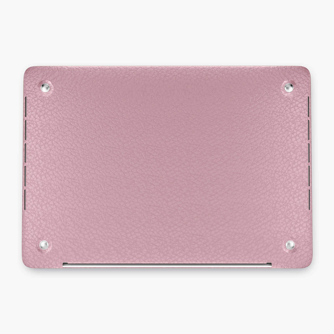 Calfskin Macbook Case Apple Mac Book 15'' Pro | Pink - Stainless Steel