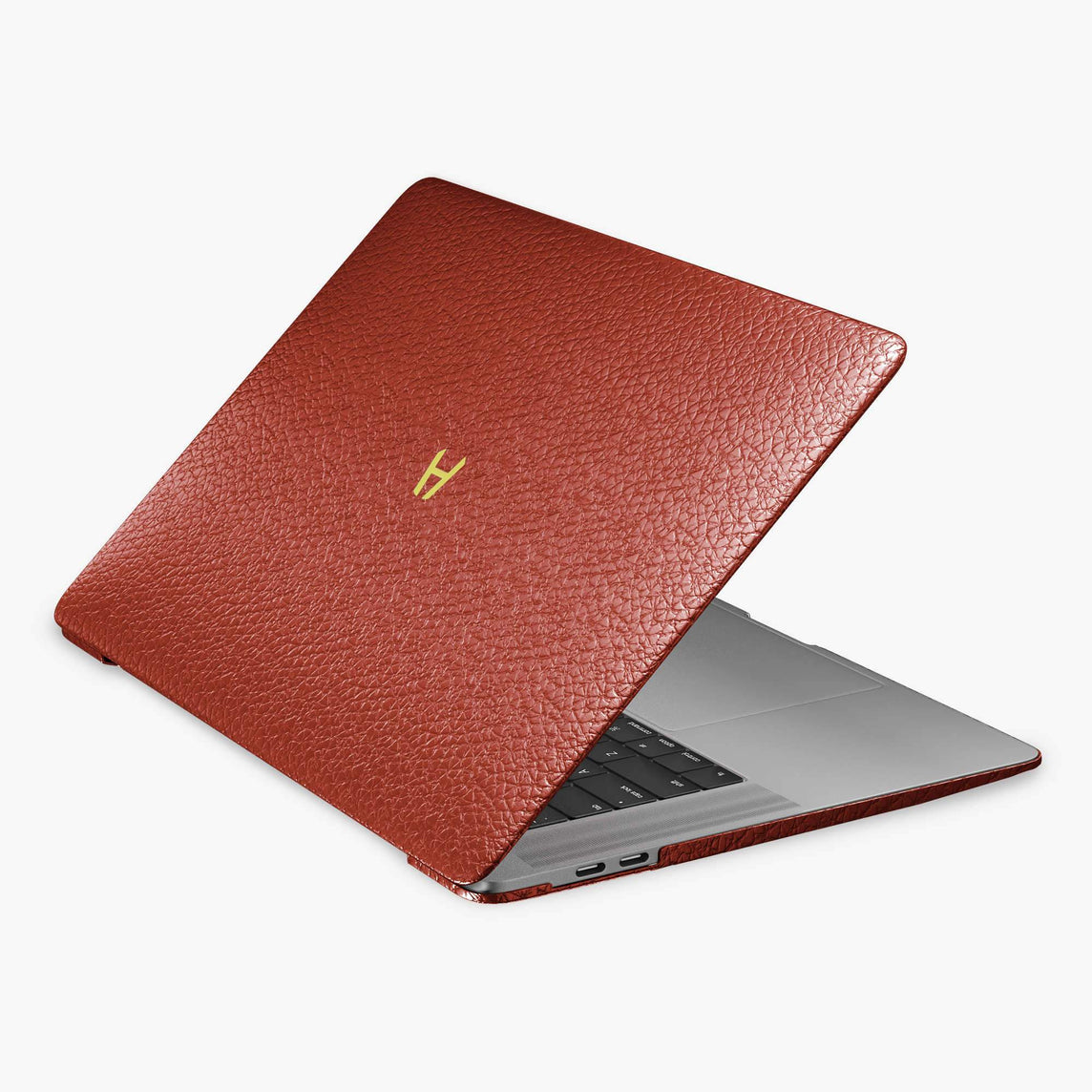 Calfskin Macbook Case Apple Mac Book Air | Red - Yellow Gold