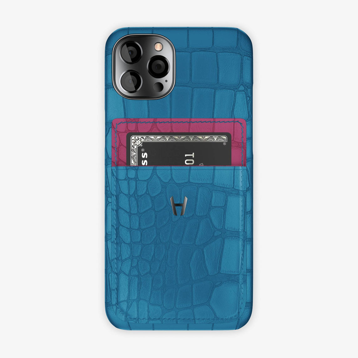 iPhone 12 & 12 Pro | Blue Lagoon/Pink Fuchsia - Black