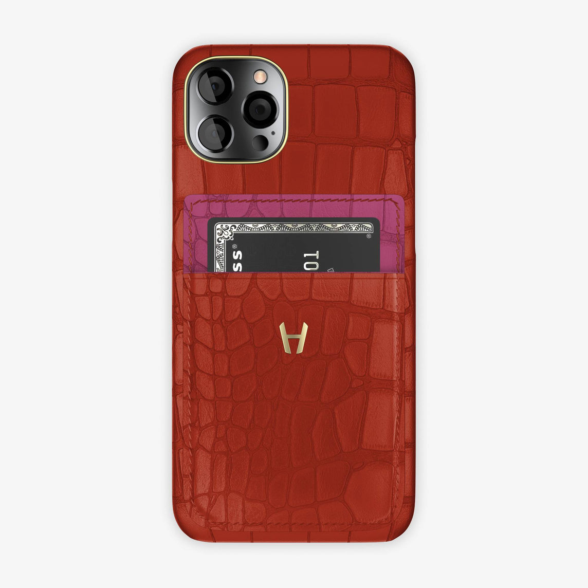 iPhone 12 & 12 Pro | Red/Pink Fuchsia - Yellow Gold
