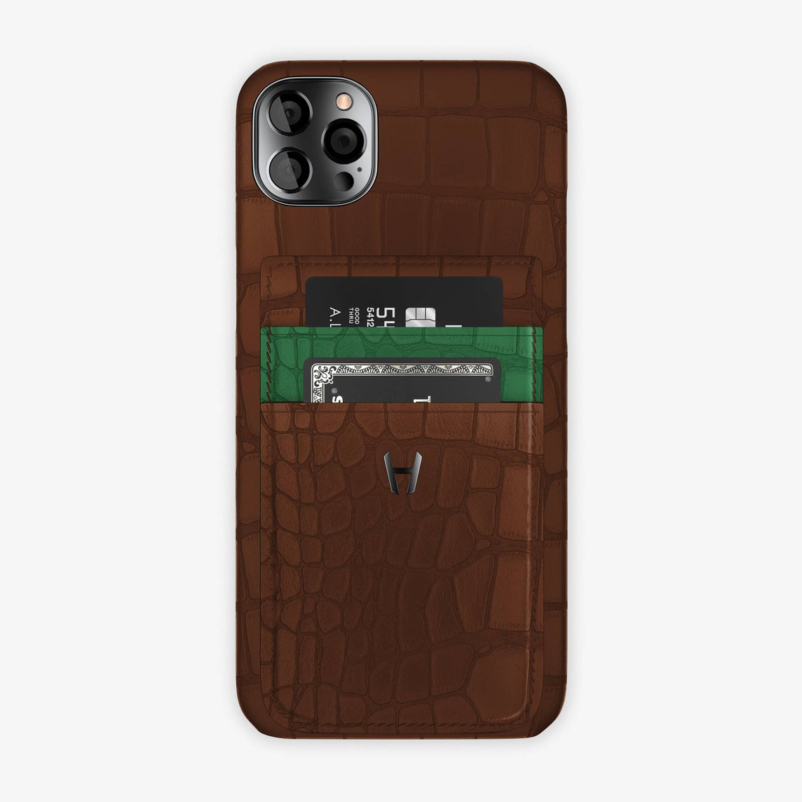 iPhone 12 Pro Max | Brown/Green Emerald - Black
