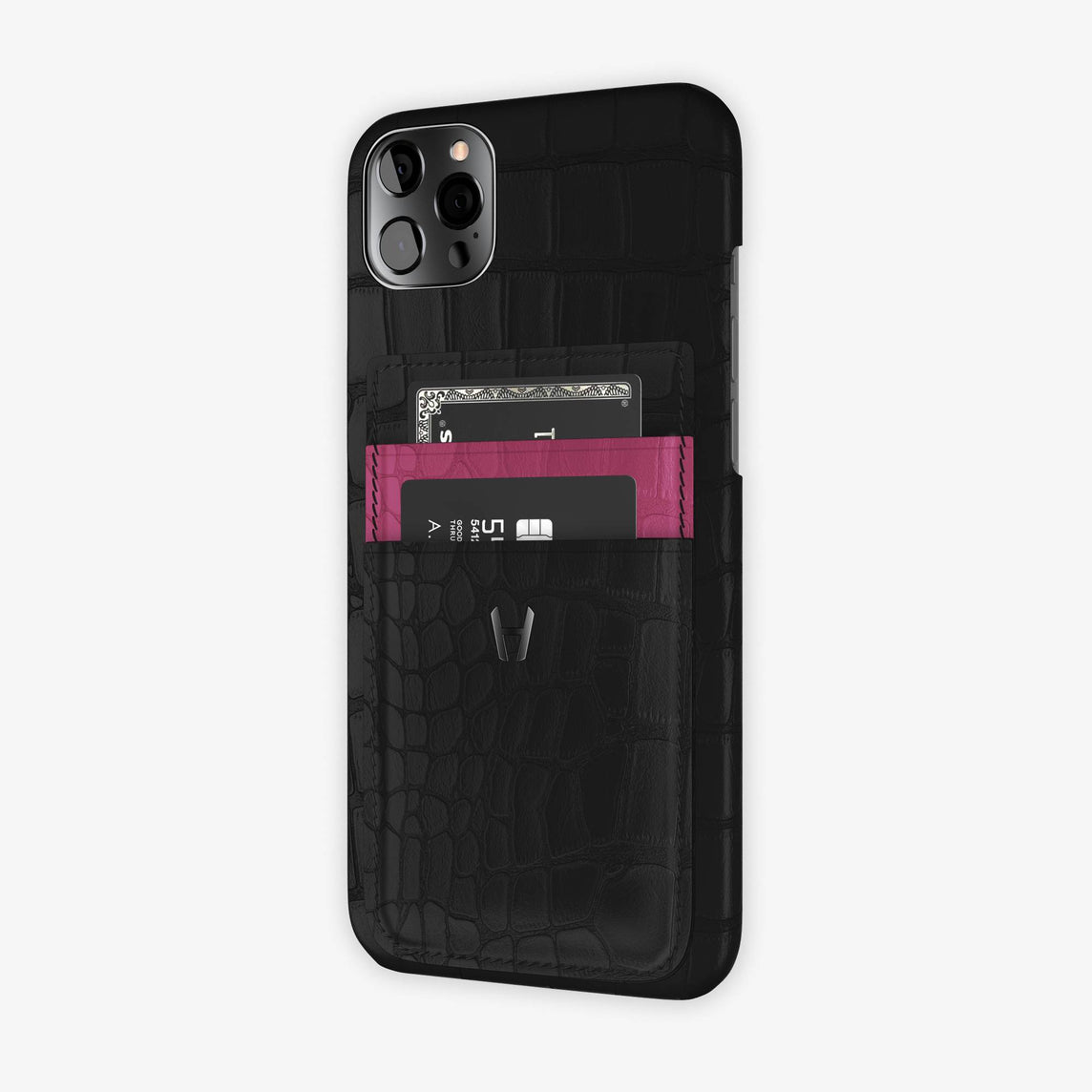 iPhone 12 Pro Max | Black/Pink Fuchsia - Black
