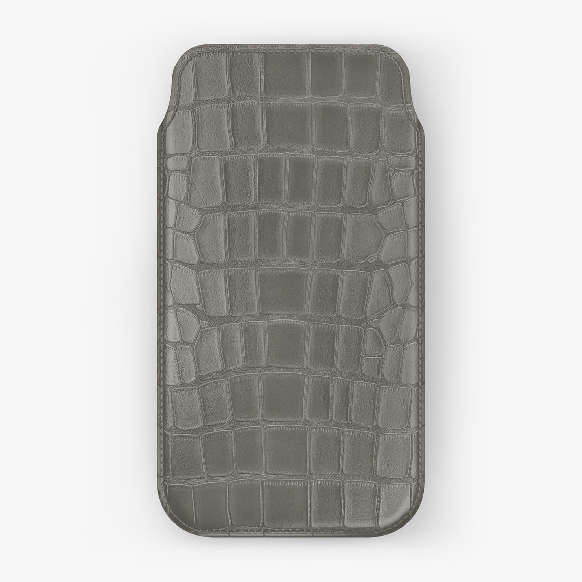 Alligator Sleeve Case iPhone 11 | Pearl Grey - Black