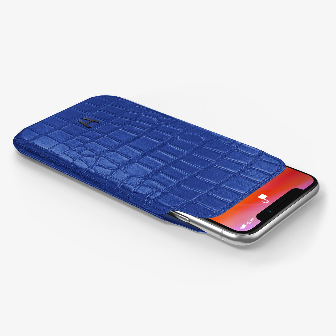 Alligator Sleeve Case iPhone 11 Pro | Peony Blue - Black