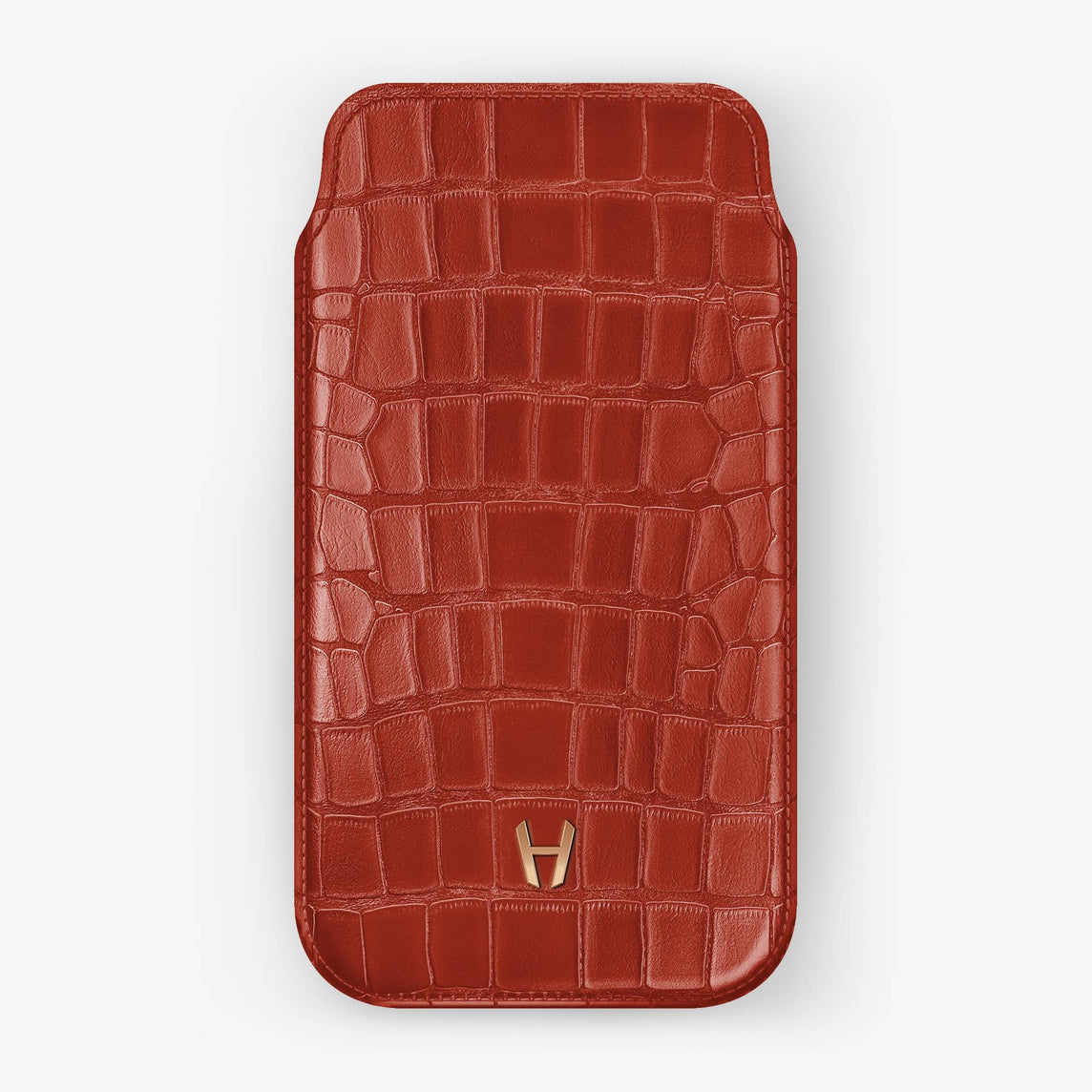 Alligator Sleeve Case iPhone 11 Pro | Red Lipstick - Rose Gold
