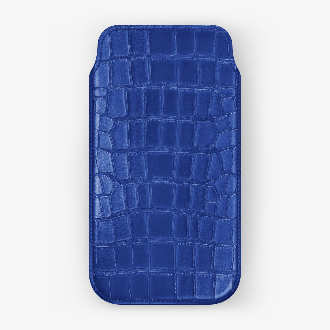 Alligator Sleeve Case iPhone 11 Pro Max | Peony Blue - Stainless Steel