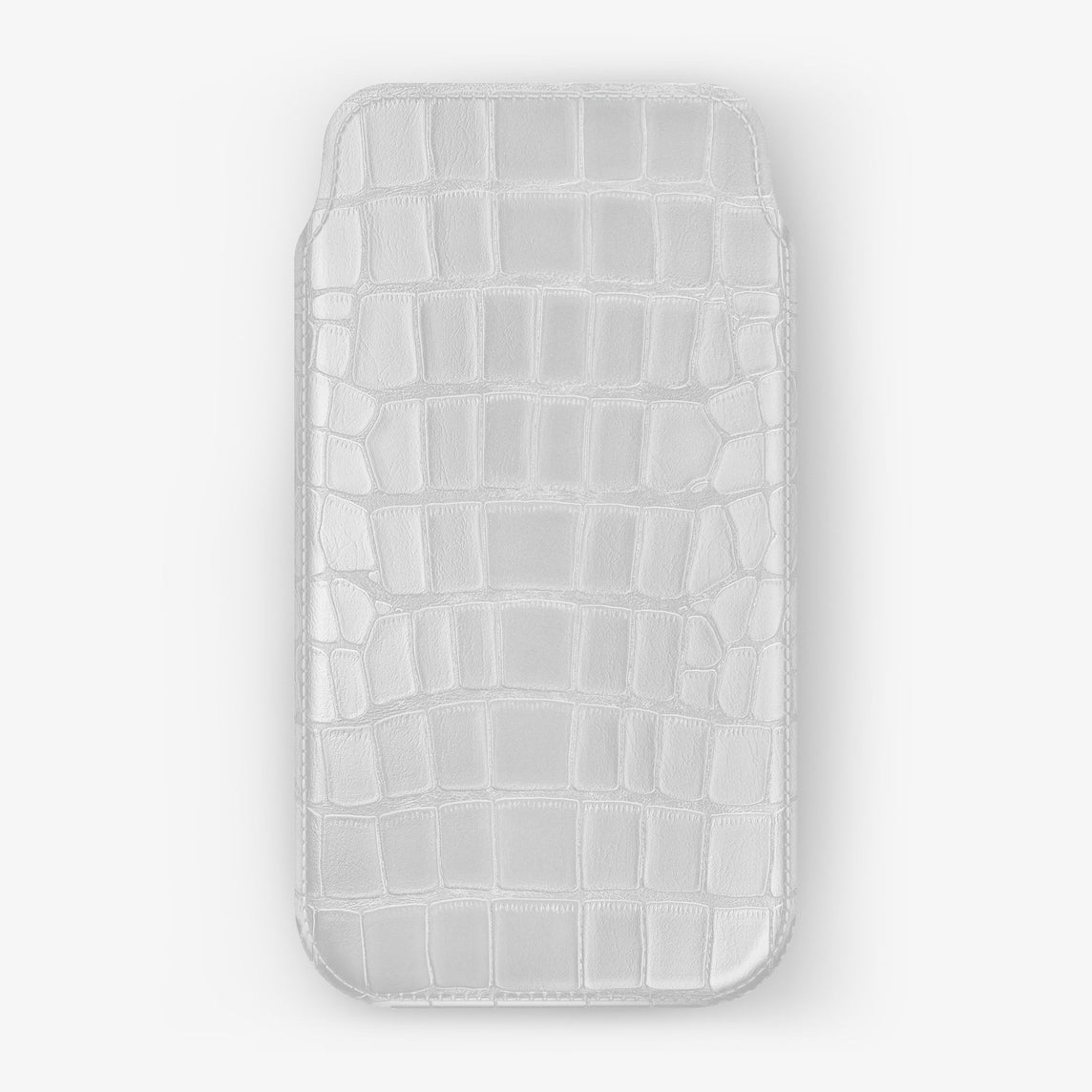 Alligator Sleeve Case iPhone 11 Pro | White - Stainless Steel