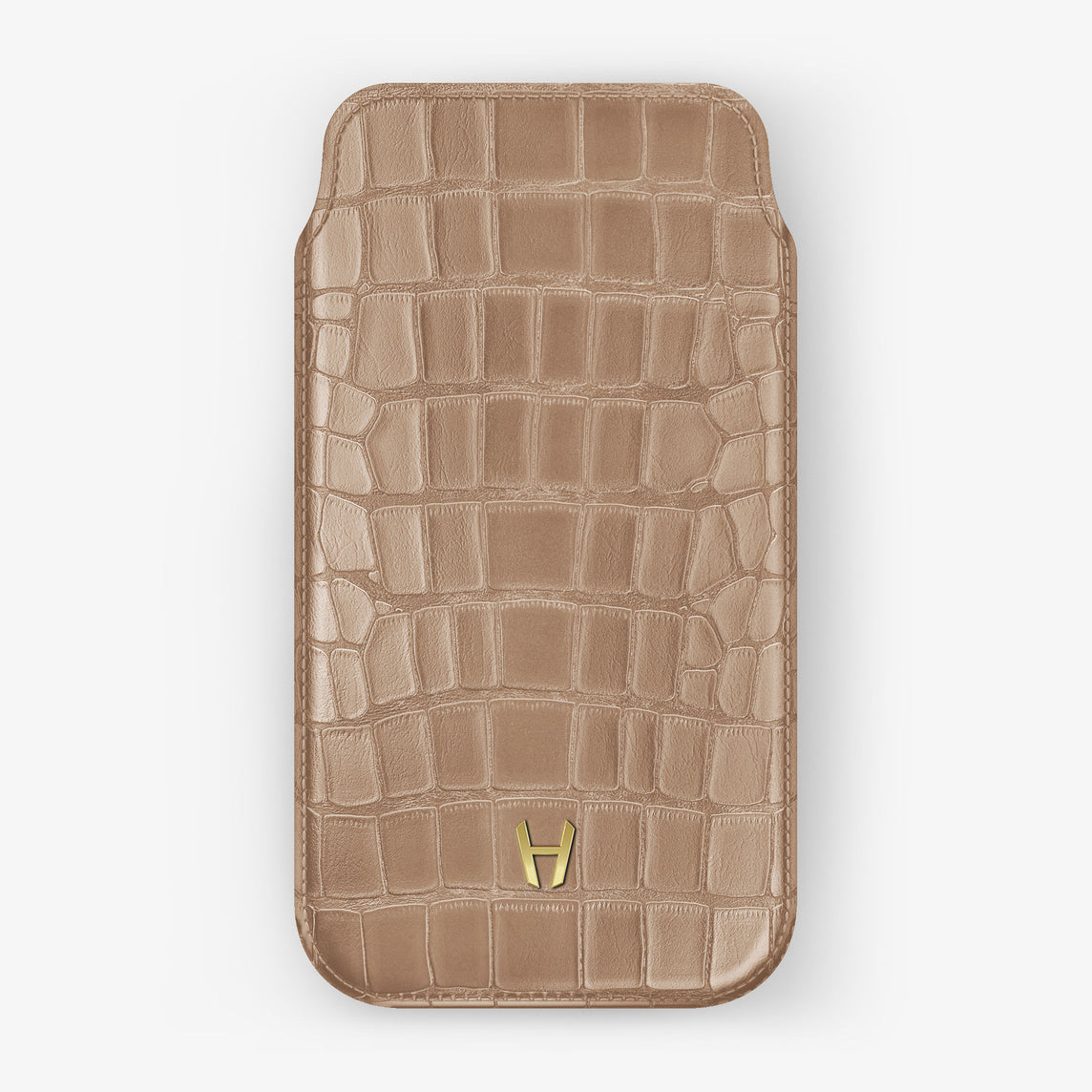 Alligator Sleeve Case iPhone 11 | Latte - Yellow Gold