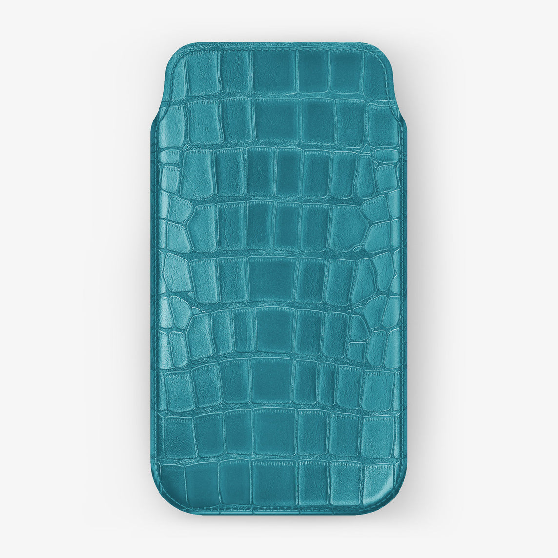 Alligator Sleeve Case iPhone 11 Pro | Blue Teal - Yellow Gold
